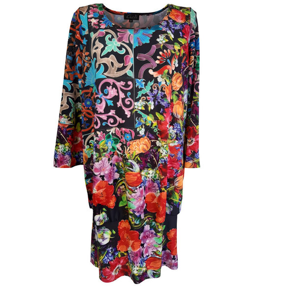 Gali Fashion Kleid, Long Shirt mit 3/4-Arm